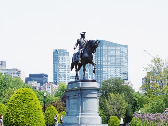 george washington statue boston public garden