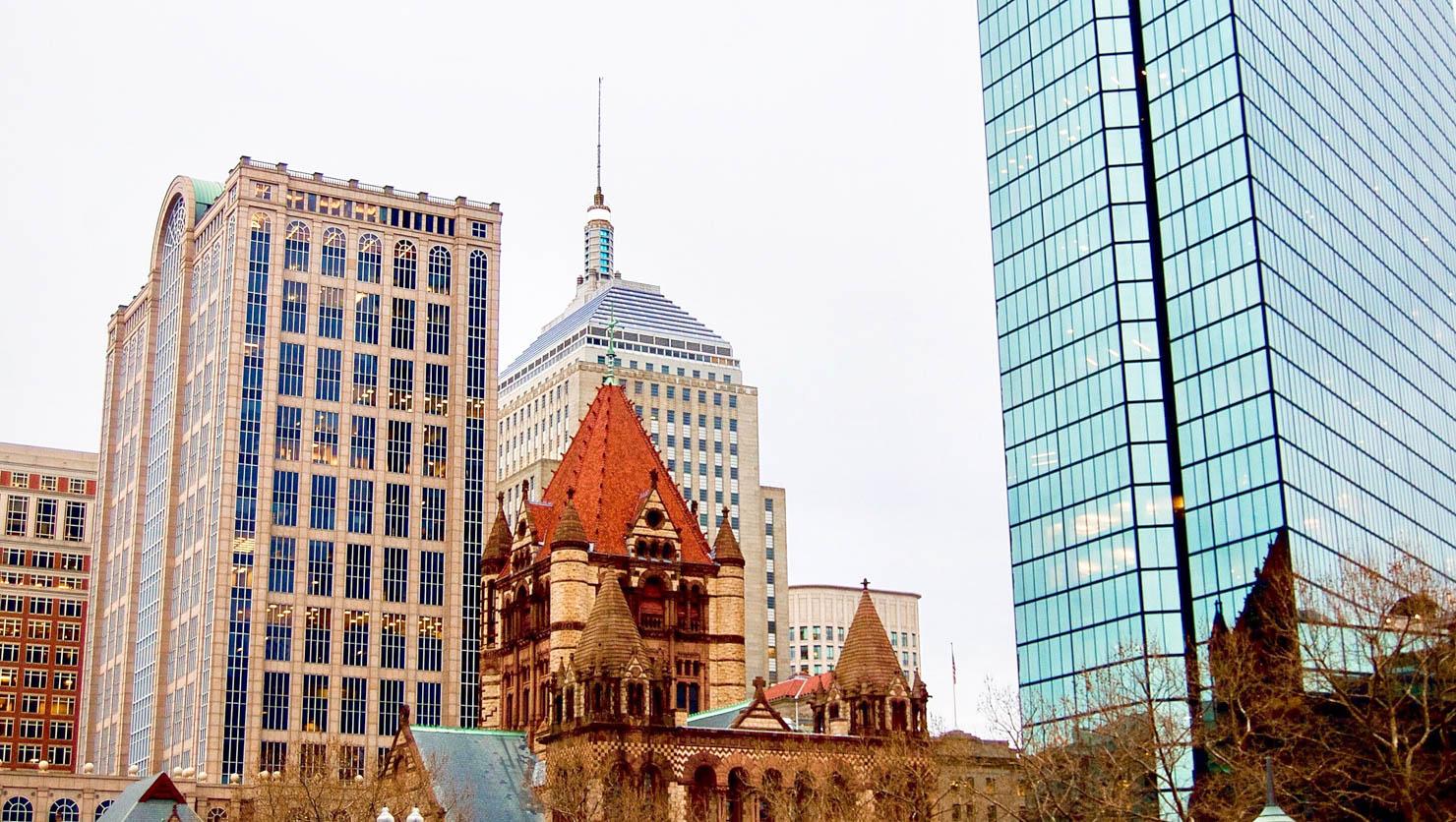downtown Boston MA buildings
